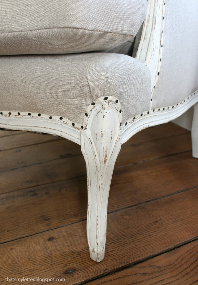 carpet tack trim on wing chair