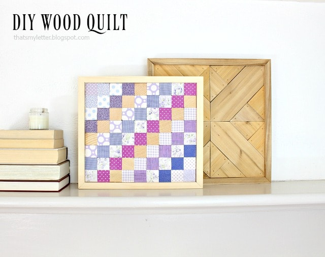 diy wood quilt using scrap fabric