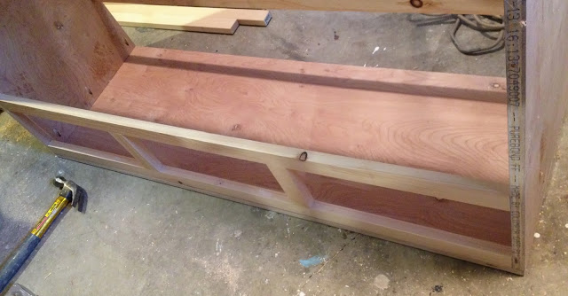 drawer face frame onto carcass