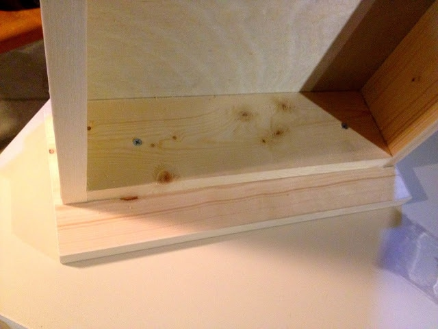 drawer face onto drawer box