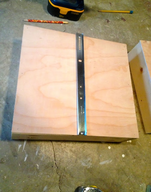 drawer glide onto drawer base