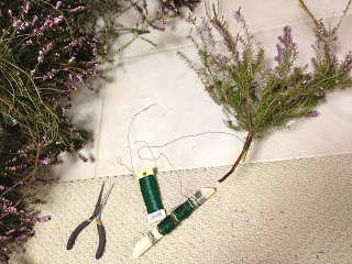 wrap heather with wire bundles