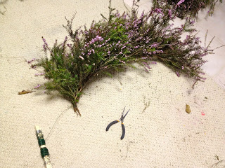wrapped heather with wire