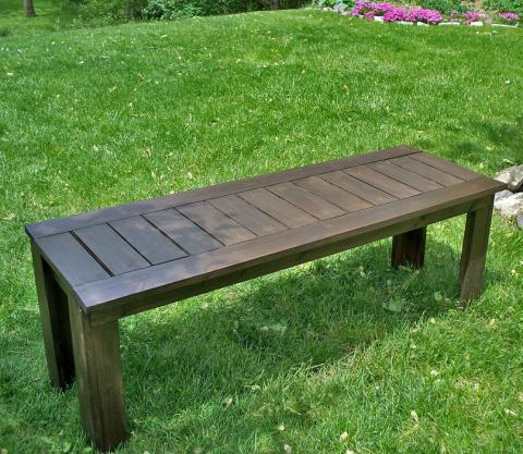 diy slatted outdoor bench free plans