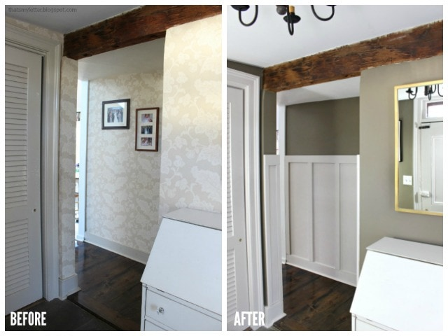 farmhouse back foyer before and after