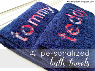 diy personalized bath towels with full name