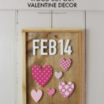 DIY Wood Cut Out Valentine Decor