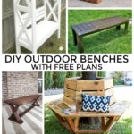 DIY Outdoor Benches with Free Plans