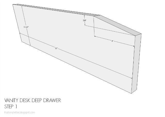 sides on desk drawer