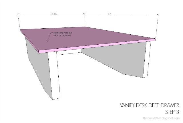 vanity desk free plans