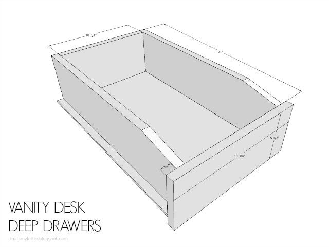 desk deep drawers dimensions