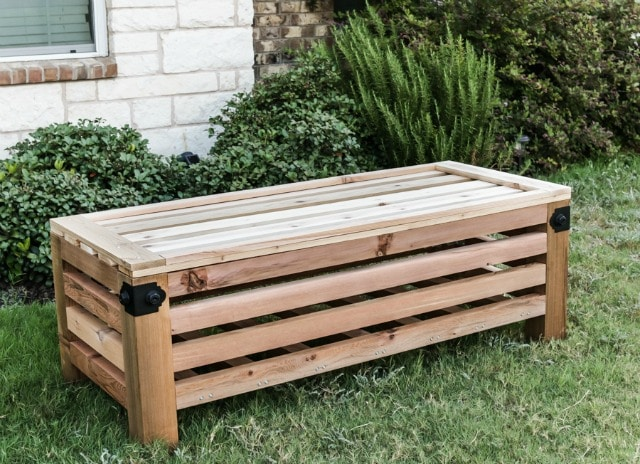 diy outdoor storage ottoman free plans