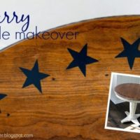 DIY Starry Side Table Makeover