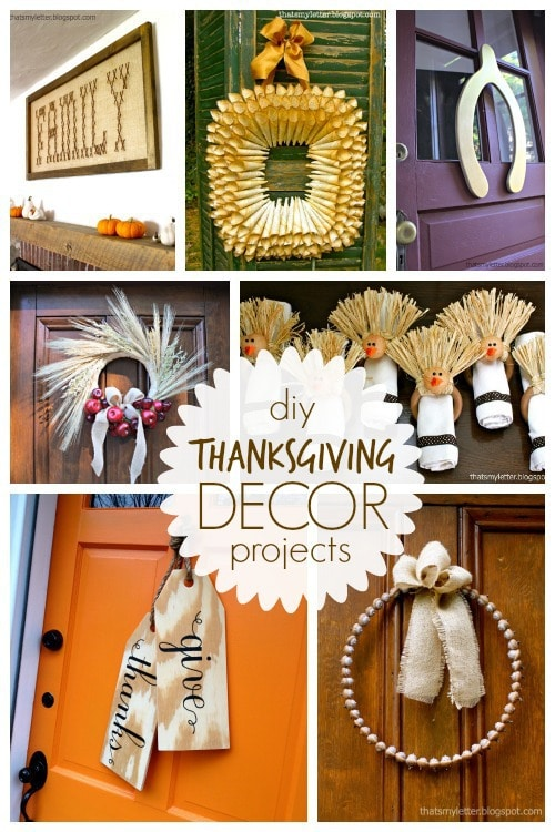 diy Thanksgiving decor projects