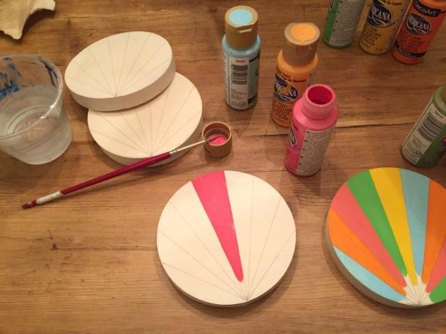 Americana acrylic paints for turkey body