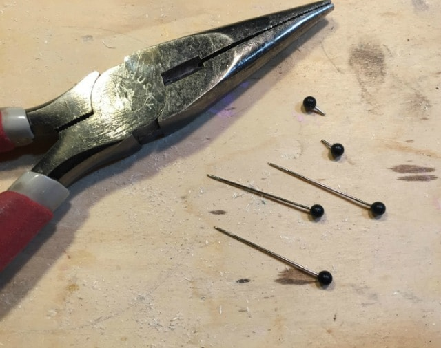 black straight pins for tukey eyes