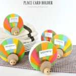 DIY Wood Turkey Placecard Holder