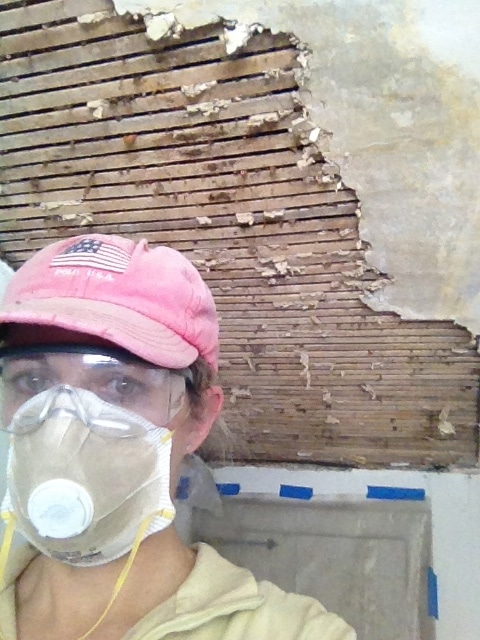 removing plaster ceiling