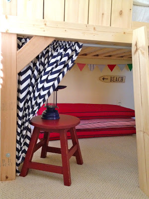 clubhouse loft bed with hideout area underneath