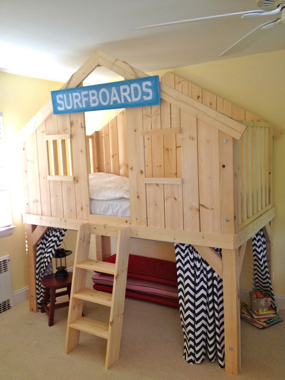 Diy Clubhouse Loft Bed For Kids Jaime Costiglio