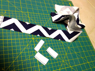 navy and white chevron velcro tiebacks