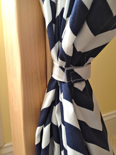 navy and white chevron curtains for hideout