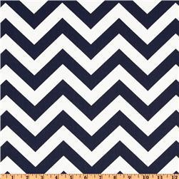 navy and white chevron fabric