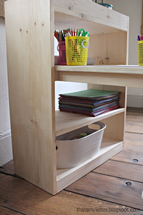 kids art table with built in storage