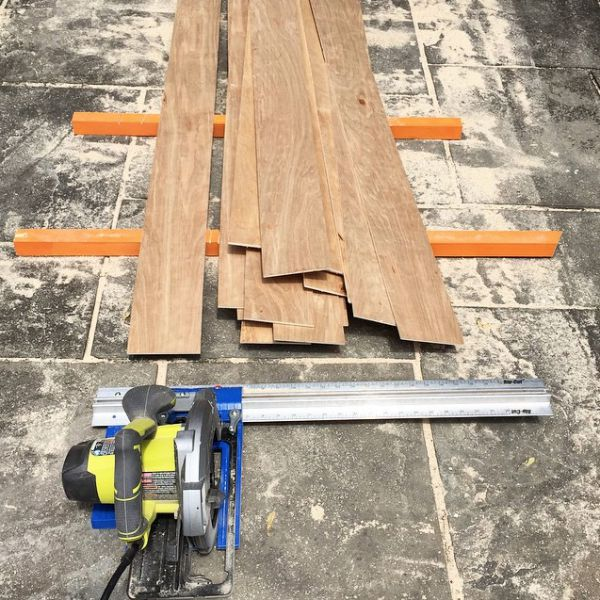making planks from underlayment using kreg rip cut