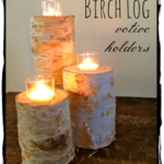 DIY Birch Log Votives