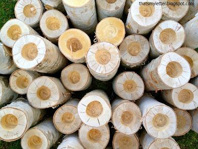 diy birch log votive holders
