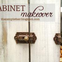 Vintage Cabinet Makeover