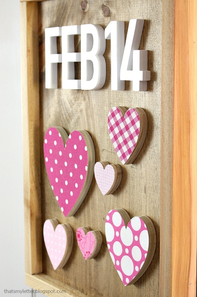 diy wood cut out valentines heart wall decor