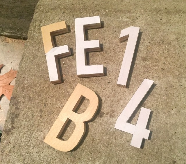 scrap plywood cut out letters