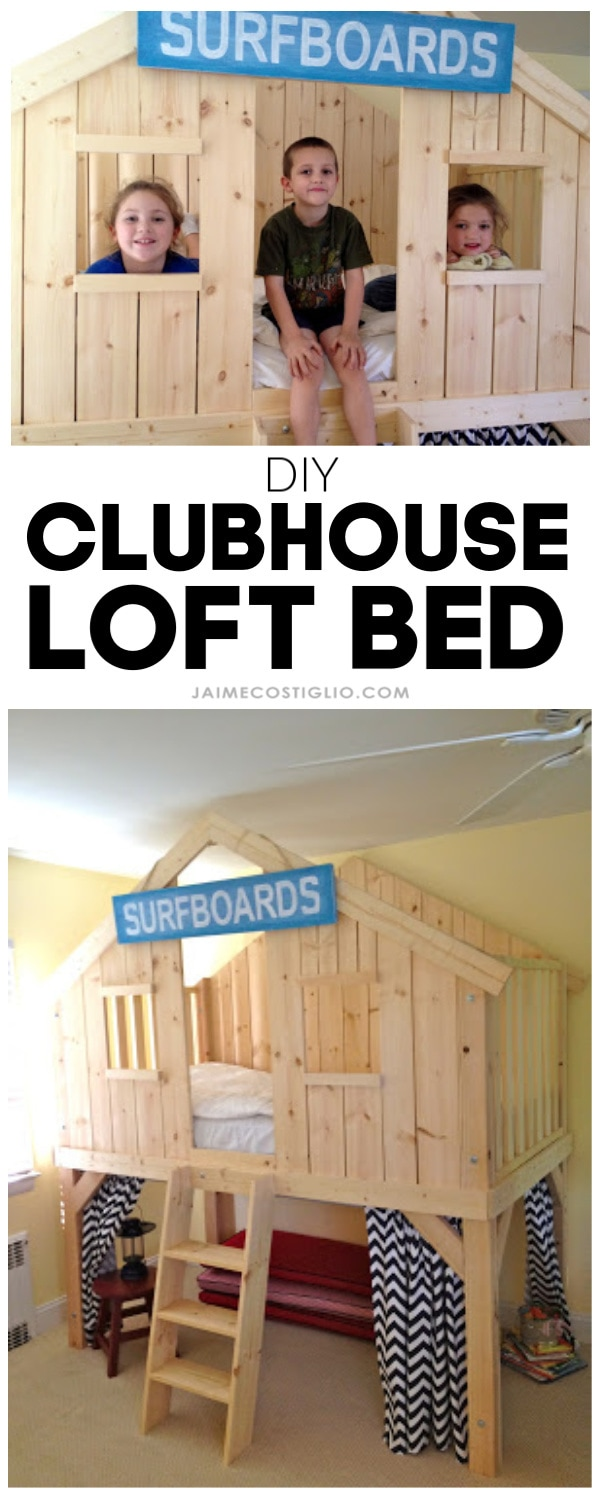 diy clubhouse loft bed free plans
