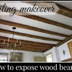 Ceiling Makeover: How to Expose Wood Beams