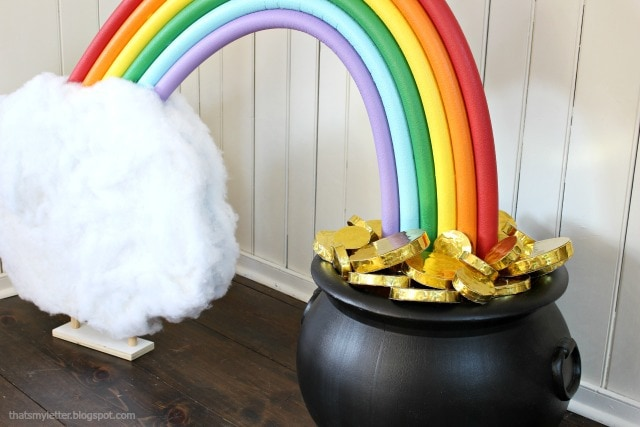 diy giant pot of gold party decoration