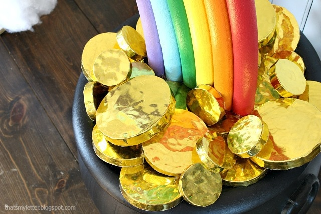 diy giant gold coins