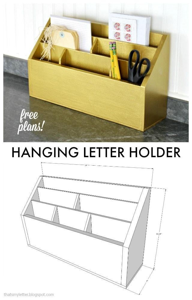 diy hanging letter holder free plans