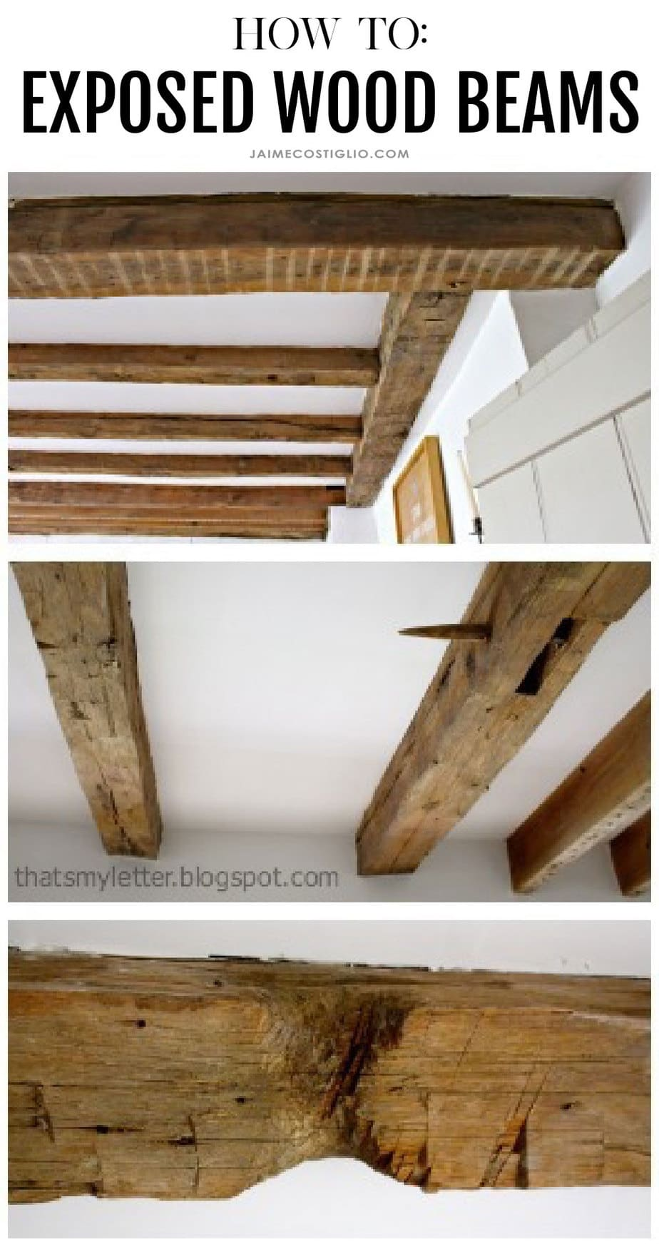 how to expose wood beams