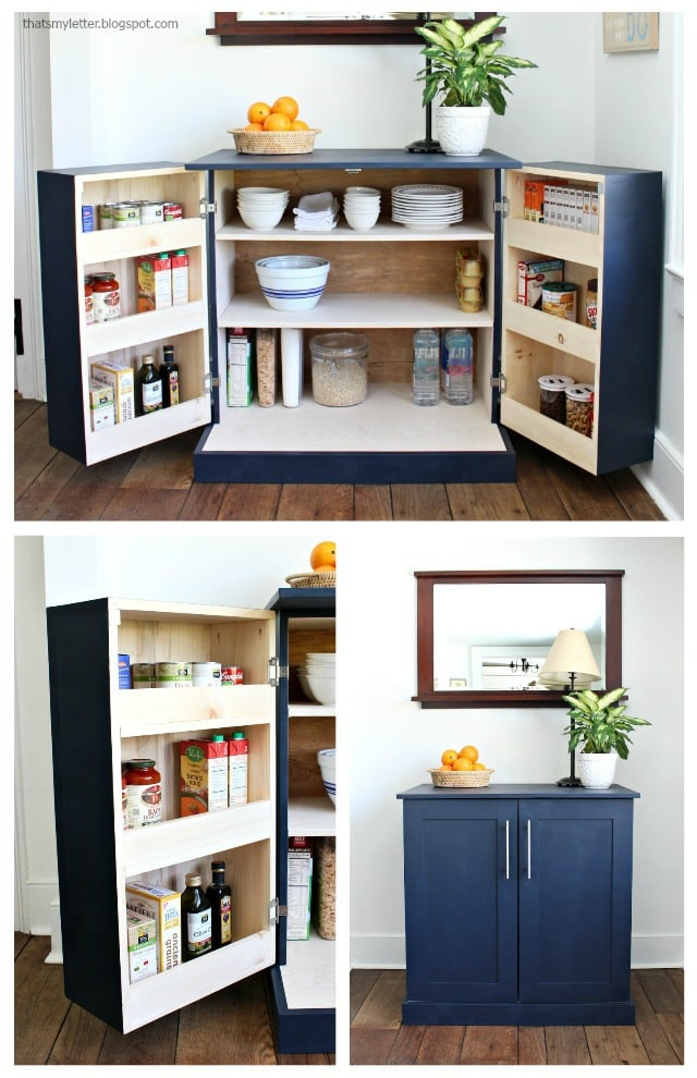 A DIY Tutorial To Build A Freestanding Kitchen Pantry Cabinet With Free  Plans. Make Your Kitchen Functional With Accessible Storage And More  Counter Space!