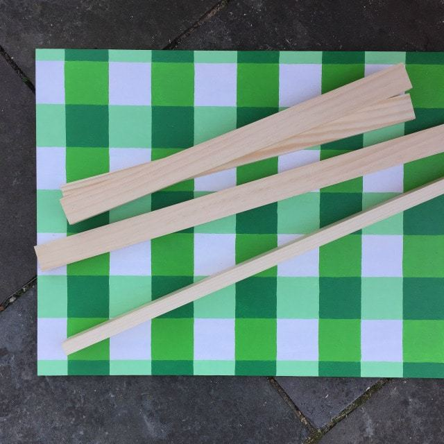 how to make a large gingham painting