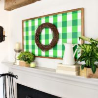 How to: Large Gingham Painting