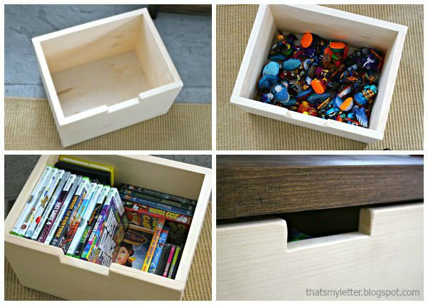 media shelf storage bins