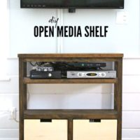 DIY Open Media Shelf Free Plans