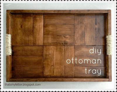 diy parquet ottoman tray
