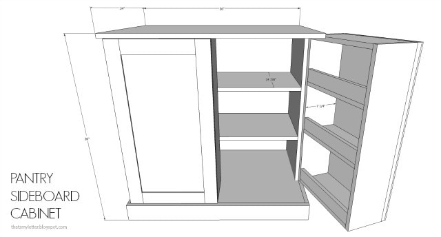 Pantry Sideboard Cabinet Dimensions
