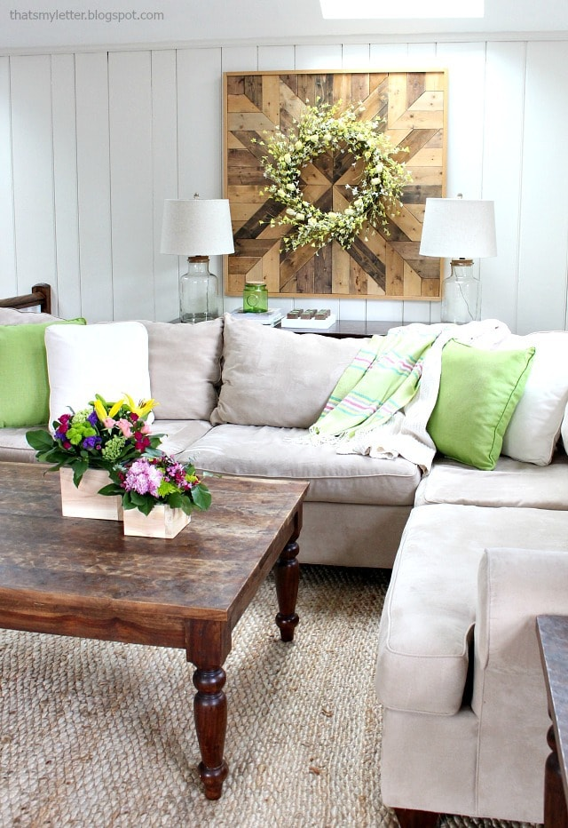 spring family room decor