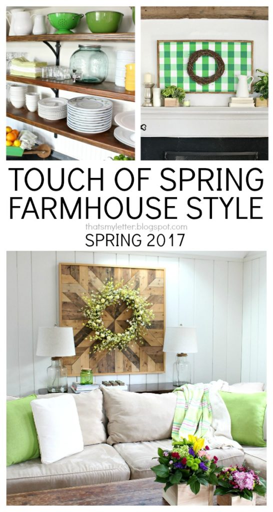 touch of spring farmhouse style home decor