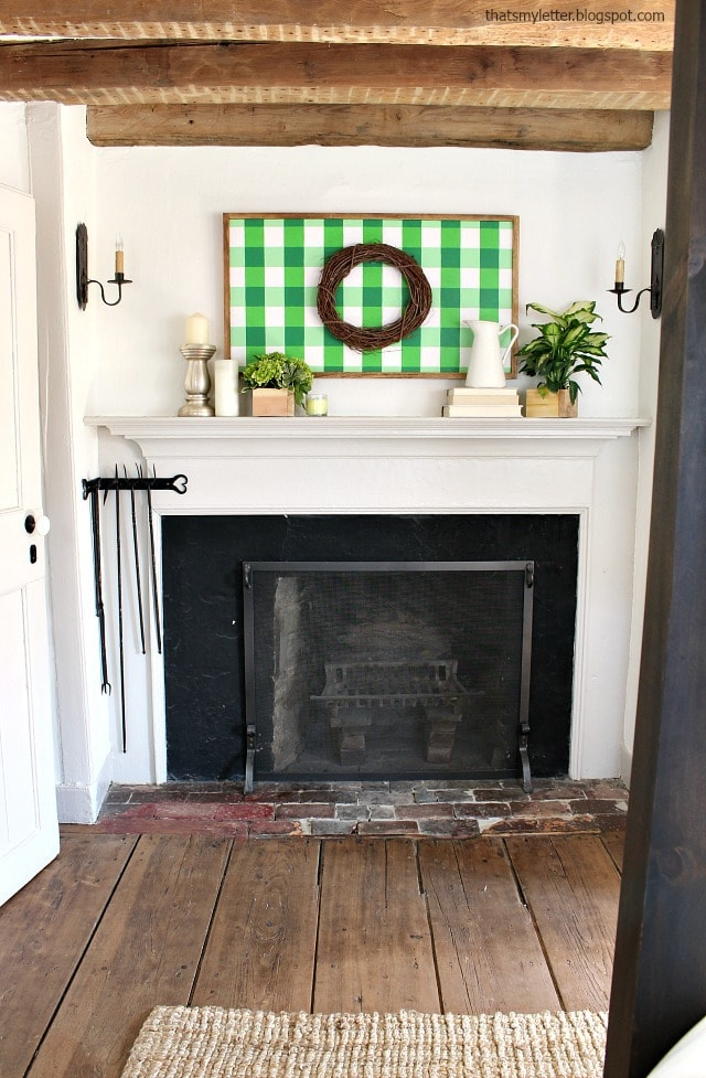 antique farmhouse fireplace